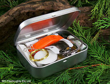 MD ULTIMATE SILVER HINGED EMERGENCY/SURVIVAL KIT SCOUTS CAMPING BUSHCRAFT HIKING
