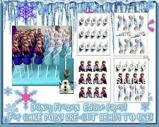 EDIBLE Cake Stickers for cake pops! Toppers decals characters Frozen Elsa Anna