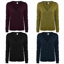 LADIES EX H&M FINE KNIT CARDIGAN WOMENS V NECK LONG SLEEVE TOP UK SIZE 6-20