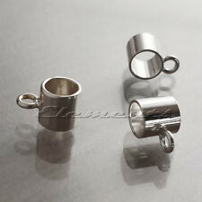 925 Sterling Silver Charm Carrier Tube Bead Bail  ATTACH CHARM TO BRACELET SF166