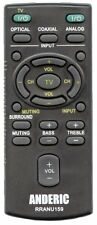 RM-ANU159 SONY Replacement Remote Control by Anderic - NEW - Ships from USA!