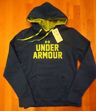NWT UNDER ARMOUR HOODIE SEMI-FITTED COLD GEAR WOMENS LARGE ELECTRIC BLUE