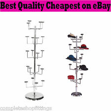 NEW HEAVY DUTY 5 TIER MILLINERY HAT SCARF CAP SPINNER DISPALY STAND