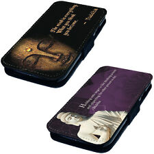 Buddha Quote Designs - Printed Faux Leather Flip Phone Cover Case