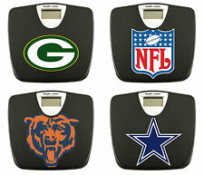 FC531 NEW NFL LOGO TEAM THEME BLACK BATHROOM DIGITAL WEIGHT SCALE POUNDS LBS