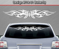 Design #116-01 BUTTERFLY Back Window Decal Sticker Graphic Tribal Flame Car SUV