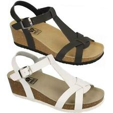 Ladies Wedge Sandals Fancy Summer Dress Heels Comfort Walking Beach Shoes Size