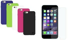 Rubber Silicone Soft Gel Skin Case Cover For iPhone 6 Plus With Screen Protector