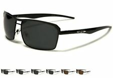 X-LOOP MEN GENTS RECTANGULAR AVIATOR POLARIZED SPORTS SUNGLASSES XL511PZ NEW