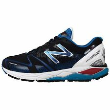 New Balance M1090BK4 2E Wide Black Blue Mens Jogging Sneakers Running Shoes