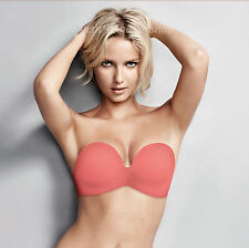 Wonderbra Ultimate Strapless Hand Tech Coral Bra 9335 New Sizes 32-38 A-G