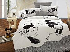 gray black Mickey Mouse Minnie Cotton king queen Size Duvet quilt Cover bed sets