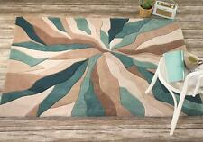Infinite Splinter Teal Blue Beige  Rug in various sizes