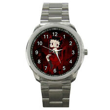 NEW Wrist Watch Sport Analogue Leather Devil Betty Boop