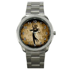NEW Wrist Watch Sport Analogue Leather Halloween Jack Nightmare Before Christmas