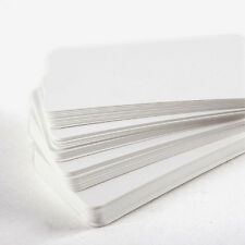 """Lot of 30 pcs White Blank card 53x89mm/2.1""""x3.5"""" for message invitation memory"""