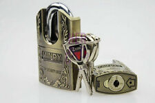 High Unbreakable quality zinc alloy door hign Security padlock with 3 keys