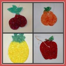 FRUIT STYLE AUTO AIR FRESHENERS ~ Over 100 scents! Apple Pear Pineapple Cherries