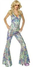 70S DANCING QUEEN HALTERNECK ABBA CATSUIT COSTUME SMALL MEDIUM AND LARGE 33842