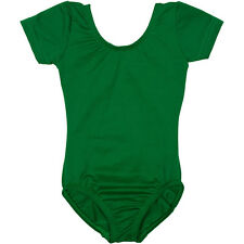 GREEN Short Sleeve Leotard for Toddler & Girls