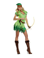 Ladies robin hood costume includes pointy hat. 2 layred dress size 10-12
