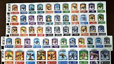 SKYLANDERS Swap Force STICKER SHEETS choose from 57 different characters! A-Q