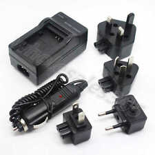 For Canon NB-6L NB6L Battery Home Travel AC+DC Wall+Car Camera Charger Adapter