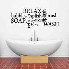 Bathtime Words Vinyl Wall Sticker Wall Art Decal Transfer for Bathroom