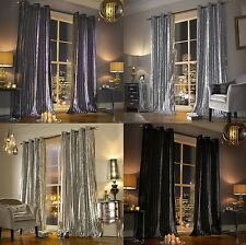 KYLIE MINOGUE PLAIN EYELET RING TOP FULLY LINED CURTAINS THICK VELVET CHENILLE