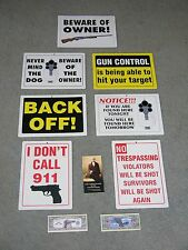 """Choice Of 7 Awesome Gun Signs,12x8.5"""", Pocket Constitution, $1,000,000 Bill, 2nd"""