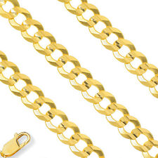5.3mm 14K Yellow Gold Semi Solid Necklace Cuban Curb Mens Chain All Sizes