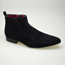 Mens Suede Smart Casual Designer Formal Funky Party Boots UK Size 6 7 8 9 10 11