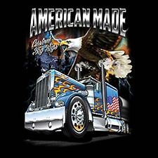 Big Rig American Trucker T Shirt Custom Diesel Truck Free Shipping Mens S to XL