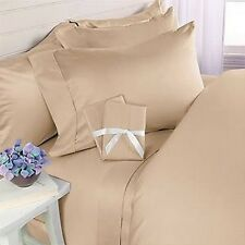 1200 Thread Count 100% Egyptian Cotton Sheet Set SOLID BEIGE All Sizes Avail.