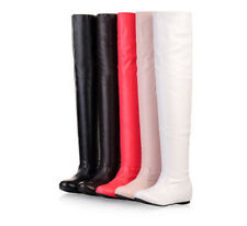 Women's Long Slim Leg Flats Thigh High Over the Knee Boots Dancing Party Shoes #