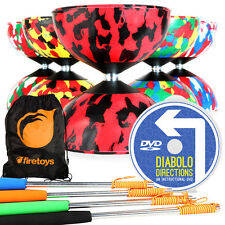 Mr B Harlequin Quality Rubber Diabolo, Henry's Metal Diablo Sticks, Bag + DVD!