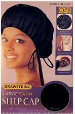 QFITT COLLECTION DRAWSTRING LARGE SATIN SLEEP CAP