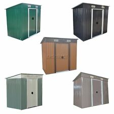 FoxHunter Garden Shed Strong Metal Pent Roof Outdoor Storage Free Foundation New