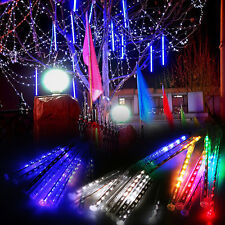 Meteor Shower Falling Icicle 8 Tube LED XMAS Tree Garden Party String Light Lamp
