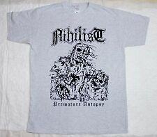 NIHILIST PREMATURE AUTOPSY ENTOMBED UNLEASHED MORBID DEATH GRAY T-SHIRT