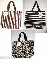 Lulu Guinness RED NOSE DAY 2015 Bag Lips Hearts Doll Face Leopard Comic Relief