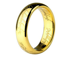 18K Gold Plated stainless steel Lord Of The Rings ring hobbit/gift/tolkien/free