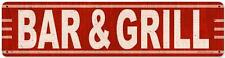 Vintage Retro Bar & Grill Metal Sign Restaurant Cafe Pub Tavern Wall Decor RPC