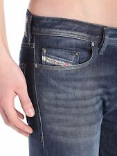 New Diesel Brand Mens Buster U 885K Tapered  Fit Jeans Trousers Vintage Blue