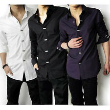 New Luxury Stylish Mens Casual Dress Slim Fit Shirts 3 Colours 5 Size FF1367