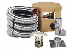 """6"""" DIAMETER FLEX-ALL SINGLE PLY ALL FUEL STAINLESS STEEL CHIMNEY LINER KITS"""