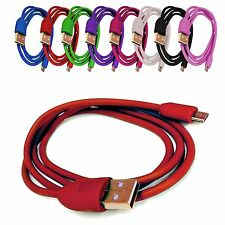 COLOURED USB CHARGING/SYNC CABLE LEAD WIRE FOR VARIOUS MOBILE PHONES