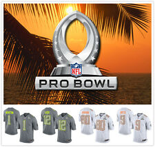 HOT 2014 Pro Bowl N F L  Rugby Football Jersey Sport White Gray Short Sleeve