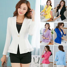 Spring Women Fashion Casual Business Blazer One Button Slim Suit Jacket Coat
