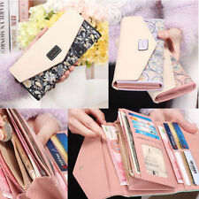 Fashion Envelope Women Leather Purse Wallet Long Card Holder Mobile Zip Handbag
